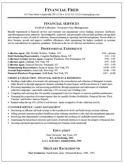 Credit And Collections Specialist Resume by Collection Resume