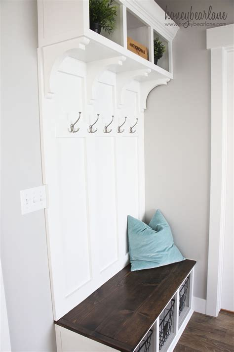 diy mudroom bench part  honeybear lane