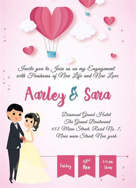 elegant engagement invitation card  images
