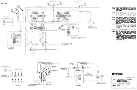 3406 3408 3412 packaged generator set wiring diagram 1400 sels02100001 caterpillar