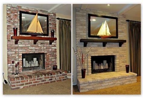 fireplace decorating painting  brick fireplace