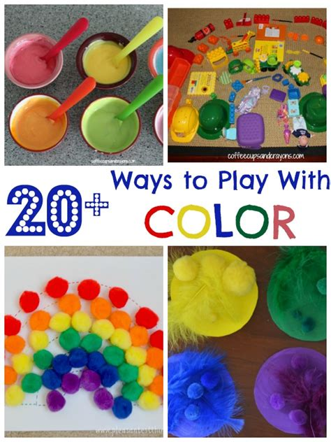 color projects for preschoolers 20 color activities for coffee cups and crayons 739