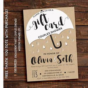 couples shower invitation couples shower invitation With gift card wedding shower ideas