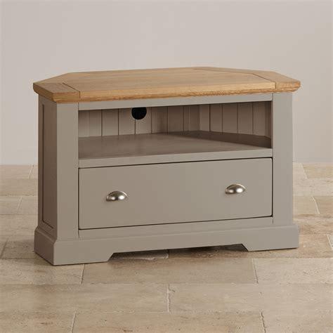 bedroom furniture dressing tables st ives grey corner tv unit with brushed oak top