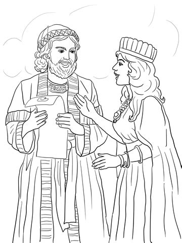 esther  mordecai  kings edict coloring page supercoloringcom
