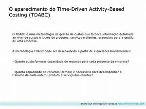 Time-Driven Activity-Based Costing (TDABC)