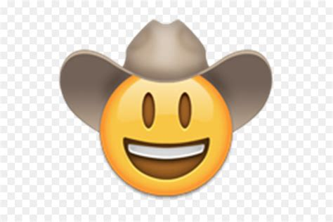emojipedia facepalm iphone unicode cowboy face png