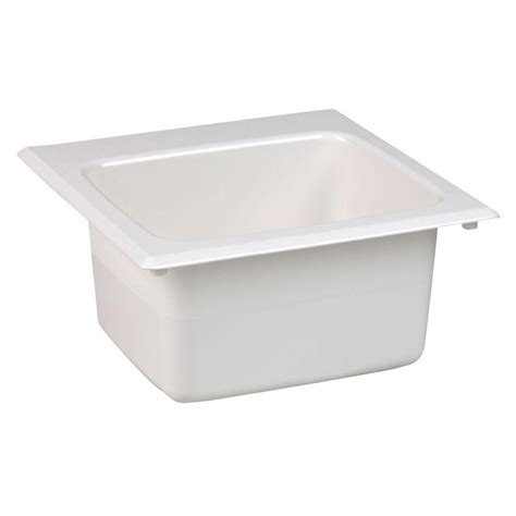 Mustee Utility Sink Home Depot by Mustee 15 In X 15 In Fiberglass Self Bar Sink In