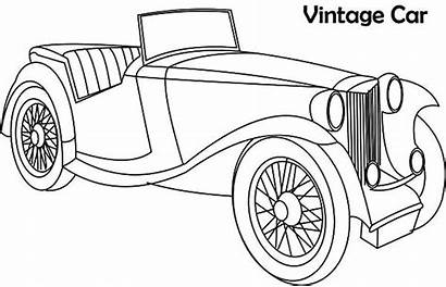 Coloring Outline Cars Antique Results Classic Calendar