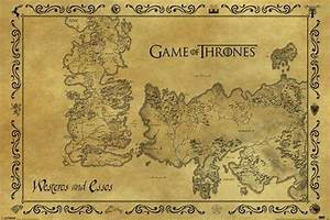 Customized Game Of Thrones Map of Westeros and Essos ...
