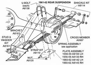 1961-62 Rear Suspension - Diagram View