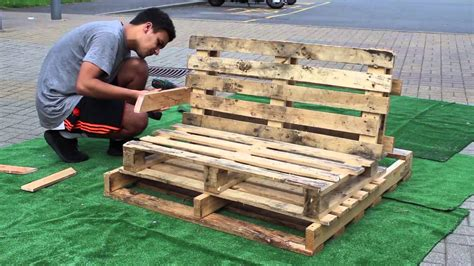 pallet lounge bench youtube