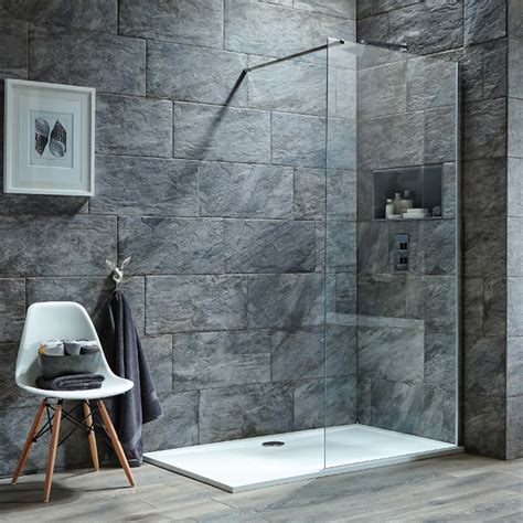 harbour  mm  tall easy clean glass panel  wetrooms