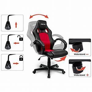 Merax Gaming Stuhl : merax chefsessel b rostuhl racing stuhl rot b rostuhl test 24 ~ Buech-reservation.com Haus und Dekorationen