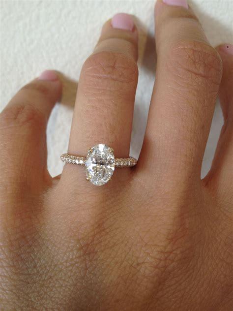 oval micro pave thin platinum bridal