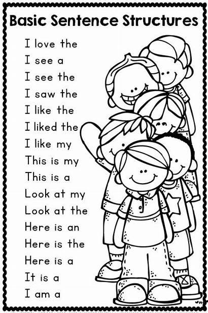 Sentence Kindergarten Sentences Writing Basic Christmas Starters