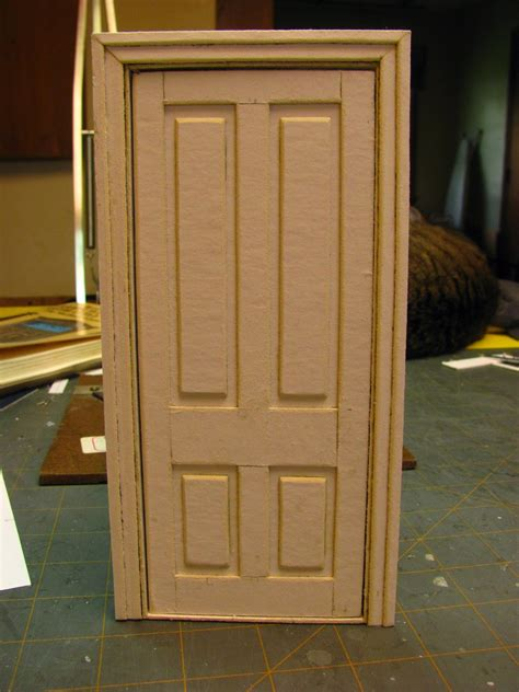 how to build a door dollhouse miniature furniture tutorials 1 inch minis