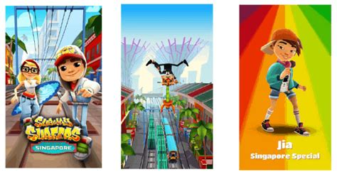 subway surfers travels to singapore in windows 10