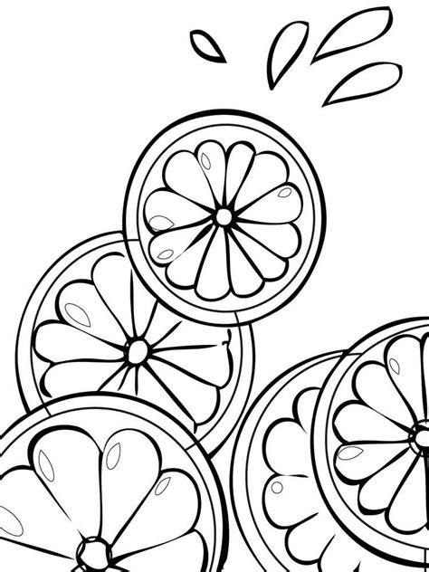 citrus fruits coloring pages   print citrus