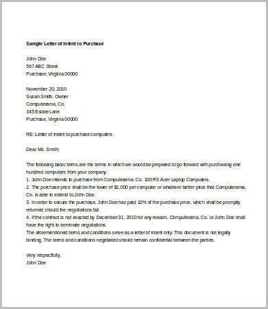 letter  intent  job   word  documents