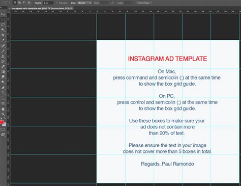 instagram ads template paul ramondo