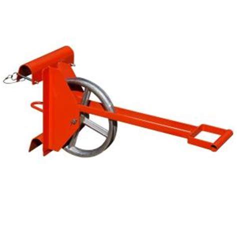 roof zone long handle hoisting wheel    ladder   home depot