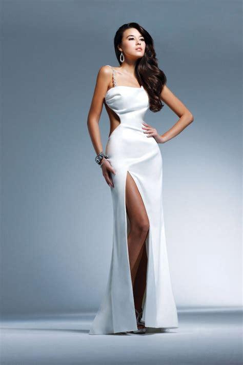 glamorous high slit dresses   elegant