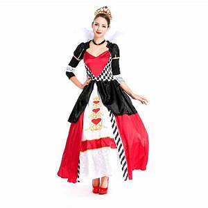 Halloween Costumes Adult Womens Poker Red Queen of Hearts ...