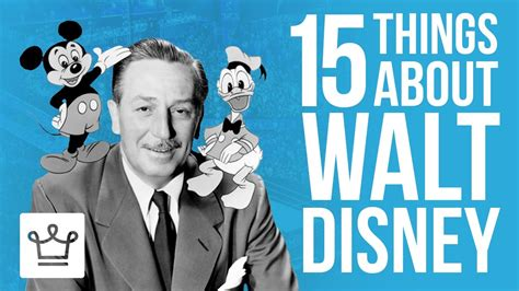 15 Things You Didn't Know About Walt Disney - YouTube