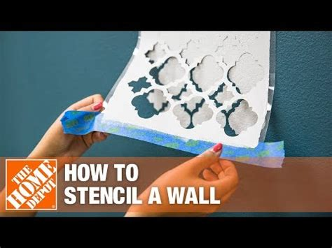 stencil  wall  paint  home depot youtube