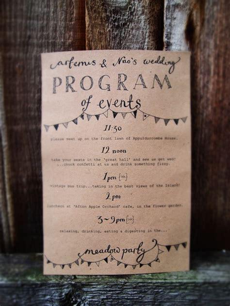 wedding stationery inspiration day  itineraries