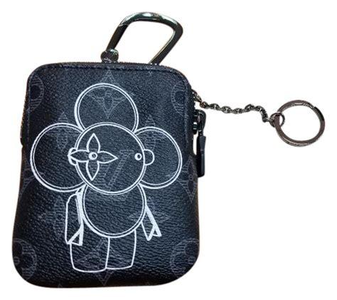 louis vuitton black vivienne zip bag charm  key holder