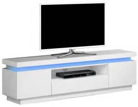 meuble tv laque blanc led meuble banc tv avec 233 clairage led pas cher comforium