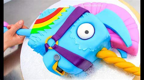 fortnite cake rainbow llama unicorn battle royale cake