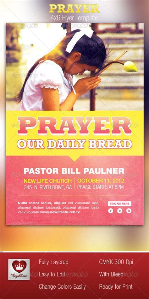 prayer church flyer template flyer template  gospel