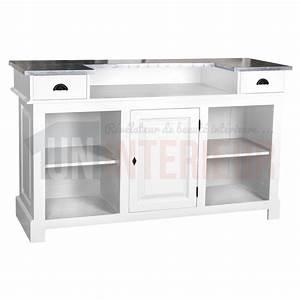 Meuble Bar Comptoir Comptoir De Bar 150cm Plateau Zinc Ou Pin