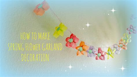 kids crafts colorful flower garland  party