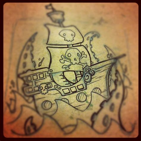 Signification Dessin Bateau by Pirate Ship Hand Tattoo Drawing Pirates Pinterest