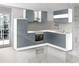 Küche 260 Cm : respekta premium leerblock l k che 260 x 200 cm weiss grau hochglanz kitchcom ~ Indierocktalk.com Haus und Dekorationen