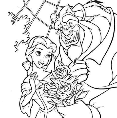 Kleurplaat And The Beast by And The Beast Coloring Pages Az Coloring Pages