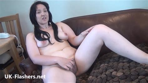 Sexy Amateur Busty British Jenny Flashing Her Hairy Pussy