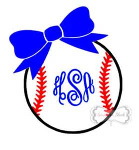 Baseball Bow Monogram Decals