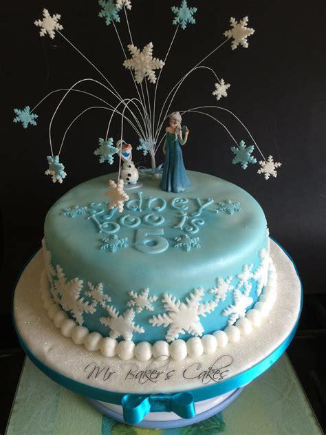 frozen single tier cake  sophias birthday