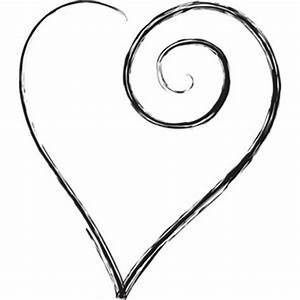 Cute heart clipart black and white - ClipartFest