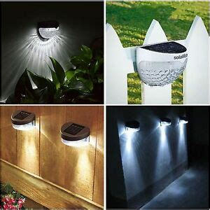 solar powered fence lights wall door step smd led light