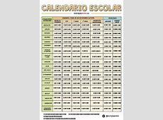 Calendario Escolar Empieza la 'vuelta al cole' 20172018