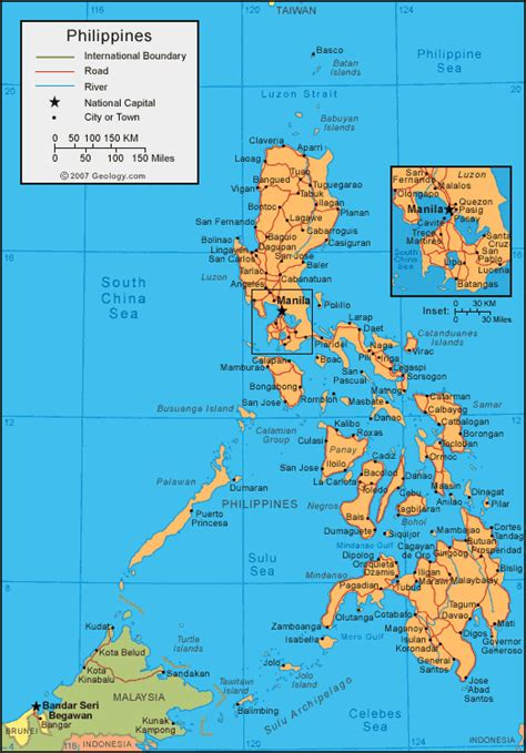 philippines map  satellite image