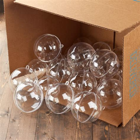 bulk case of 24 acrylic 100mm fillable keepsake ball