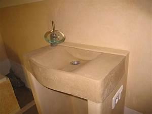 Ytong Steine Verputzen : waschbecken und unterbau mit tadelakt verputzt unterbau ~ Lizthompson.info Haus und Dekorationen