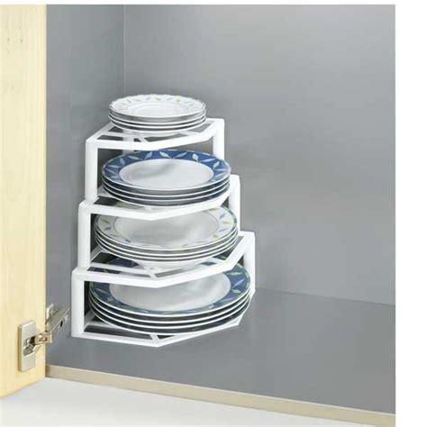 porte assiettes pour cuisine porte assiette angle 4 étages rangement de placards et tiroirs aménagement mathon fr